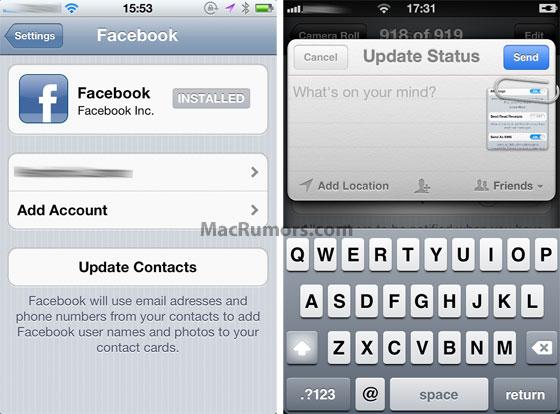 Integração do Facebook no iOS 5