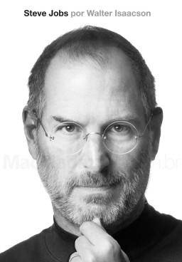 Capa da biografia autorizada de Steve Jobs em português