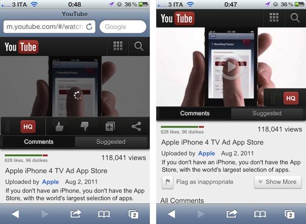 Novo visual mobile para o YouTube
