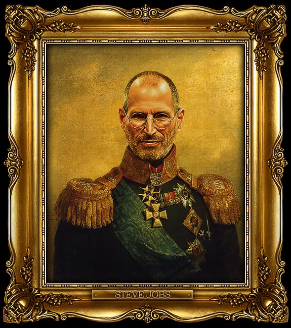 Steve Jobs como general russo