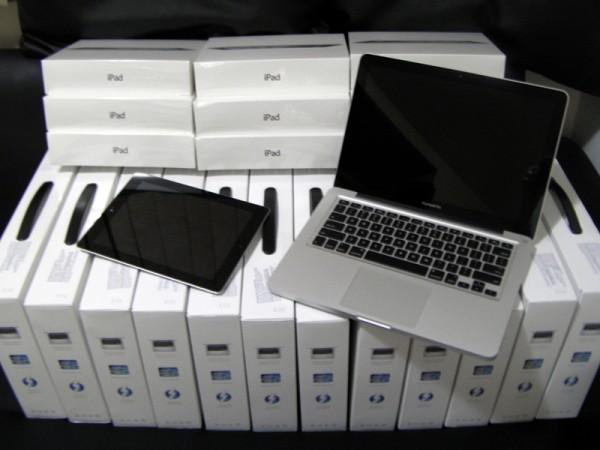 Equipamentos (iPads e MacBooks Pro) do Treinamento Itinerante