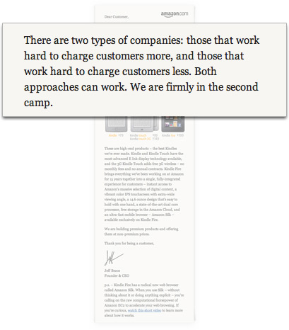Jeff Bezos sobre Apple