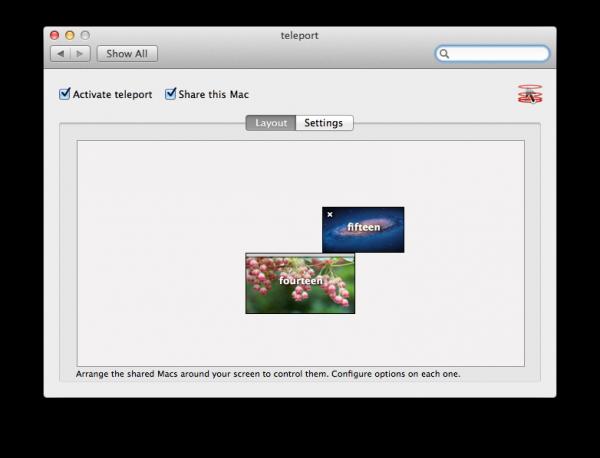 teleport para Macs