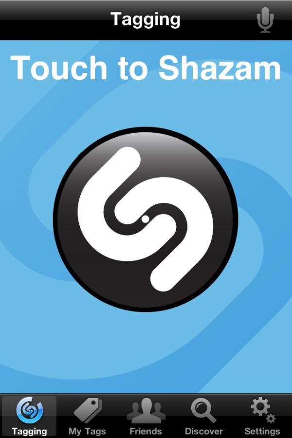 Screenshot do Shazam