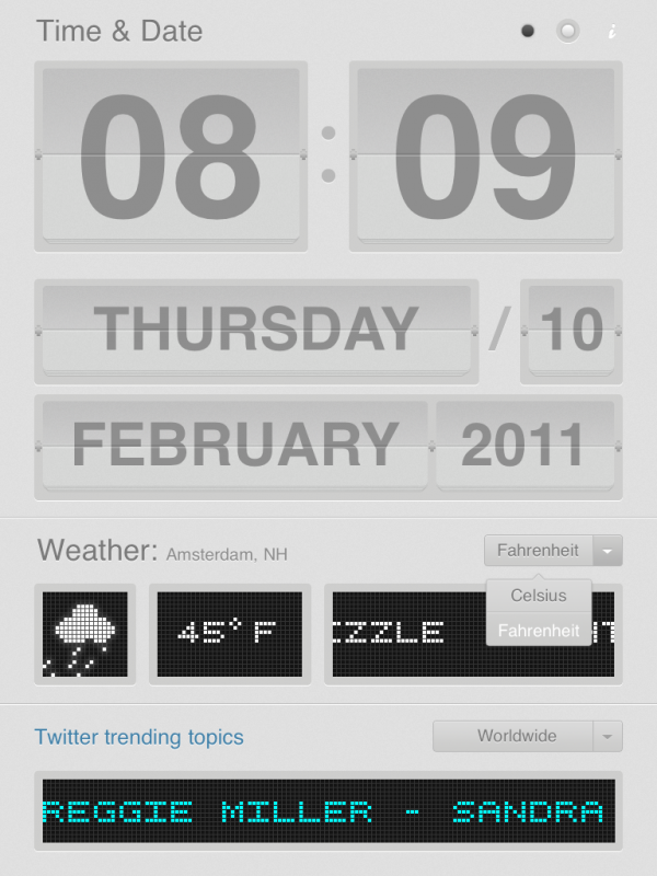 Dayboard gray