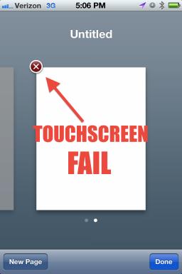 Botão de Fechar no iOS