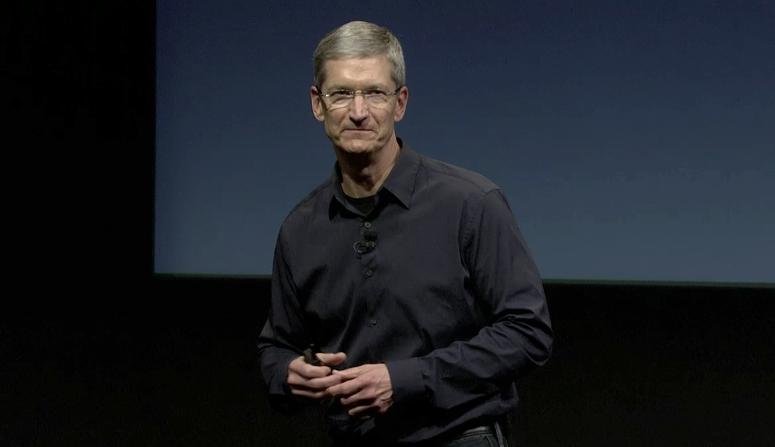Tim Cook na keynote Lets talk iPhone