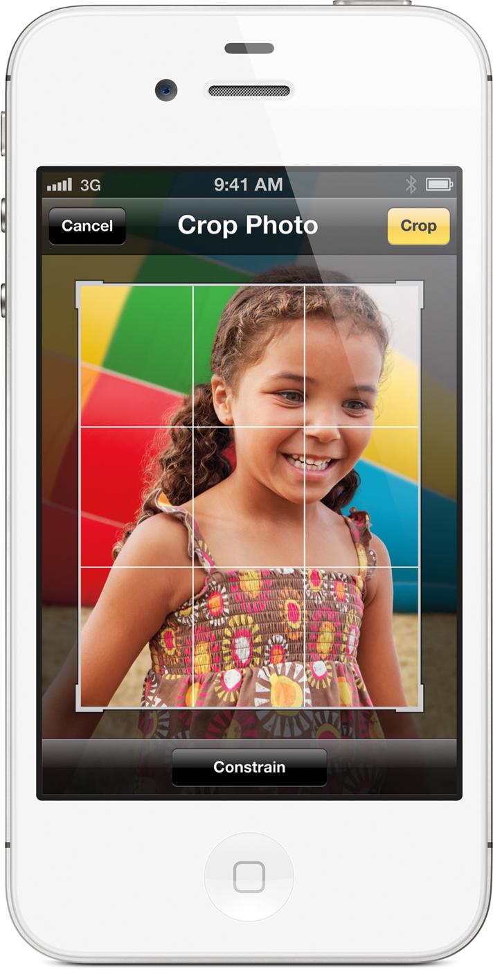 Editando uma foto no iPhone 4S