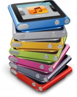 iPods nano empilhados