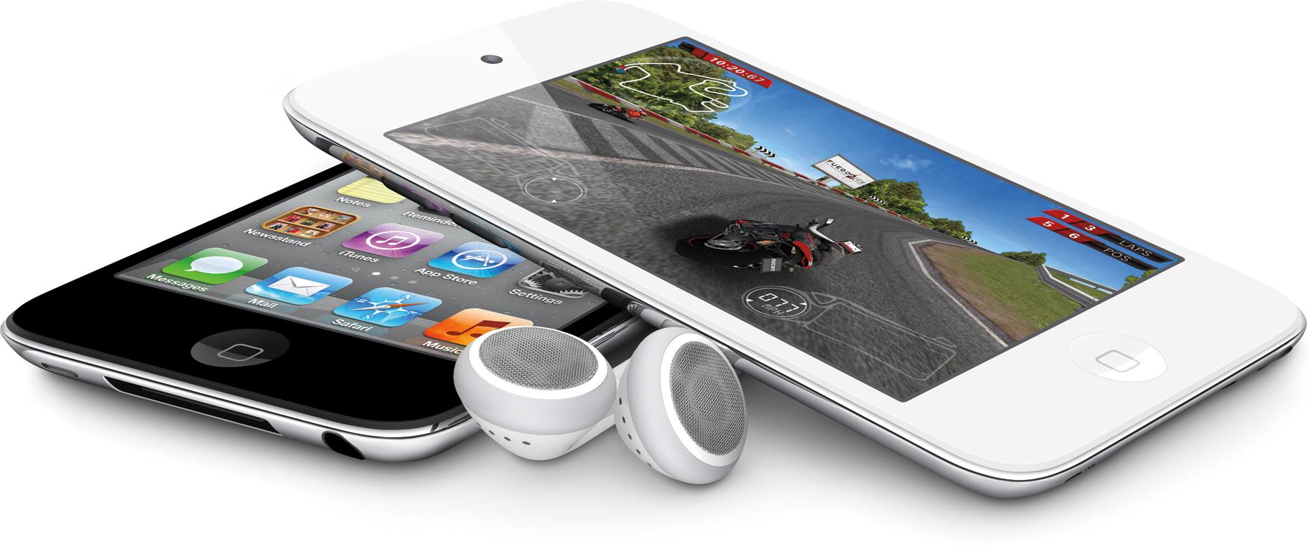 iPods touch branco e preto