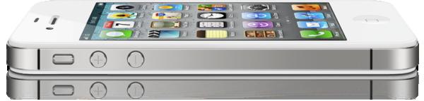 iPhone 4S deitado