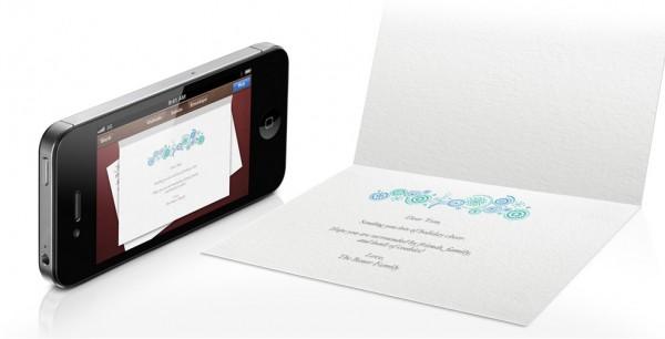 iPhone e cartão do Cards