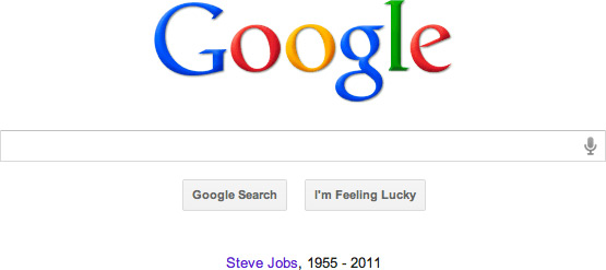 Steve Jobs no Google.com