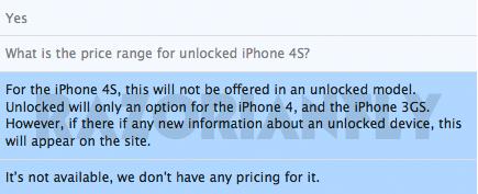 Sem iPhone 4S unlocked?