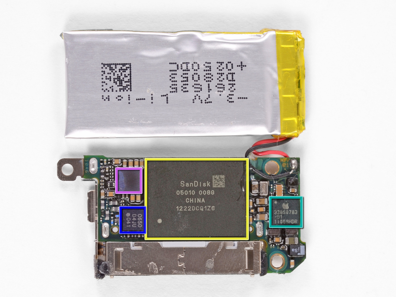 Chips e bateria do iPod nano 7G - iFixit