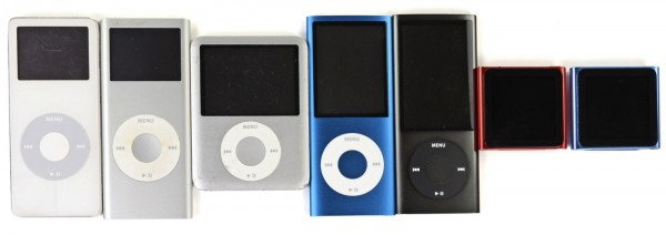 Todos os iPods nano - iFixit