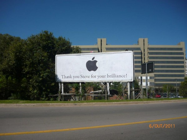 Outdoor para Steve Jobs