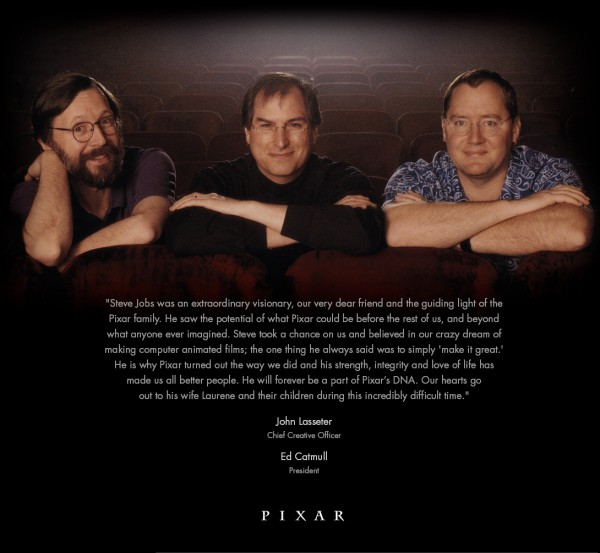 Homenagem da Pixar a Steve Jobs