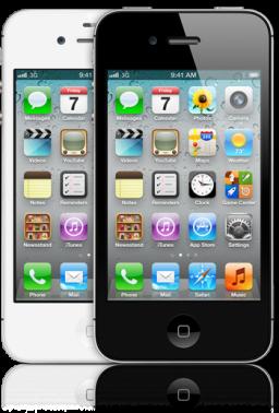 iPhones 4S branco e preto