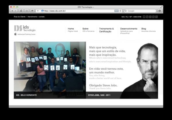 Homenagem da IDS a Steve Jobs