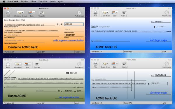 PrintCheck - Mac OS X