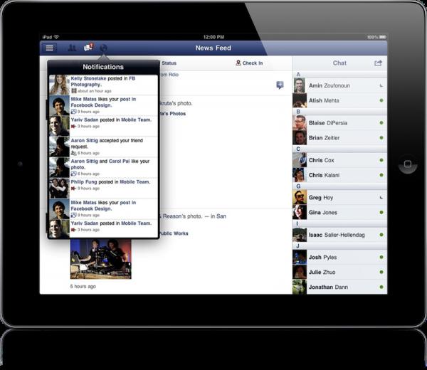 Facebook no iPad