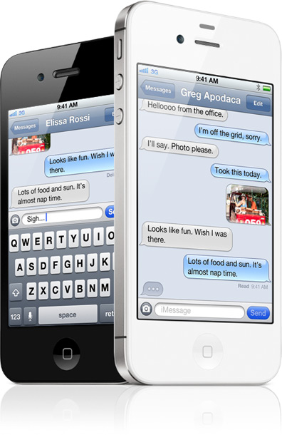 iMessage rodando em iPhones 4S