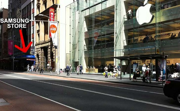 Loja temporária da Samsung na Austrália