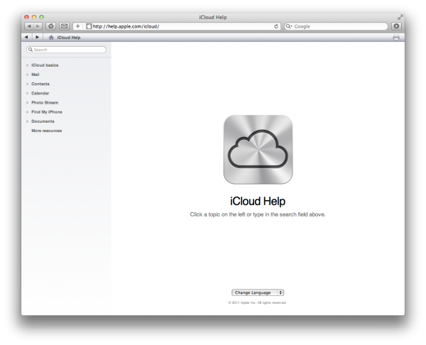Ajuda do iCloud