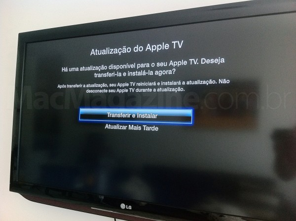 Apple TV com iOS 5