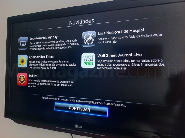Novidades no Apple TV com iOS 5