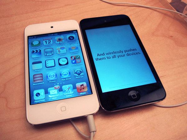 iPod touch branco em Apple Retail Store
