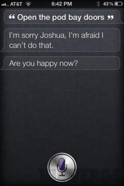 Siri sendo engraçadinha