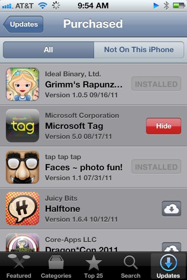 Hide na App Store
