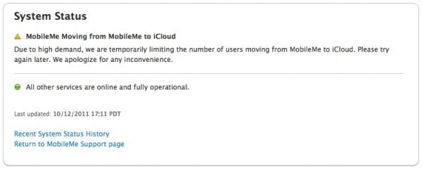 Problemas na transição do MobileMe para o iCloud