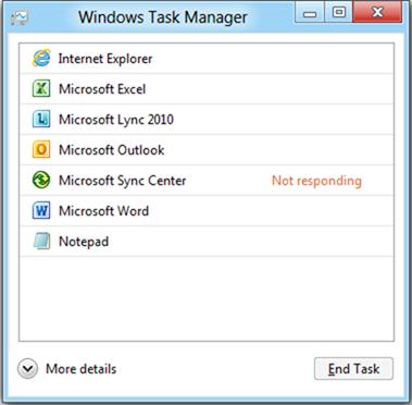 Gerenciador de tarefas no Windows