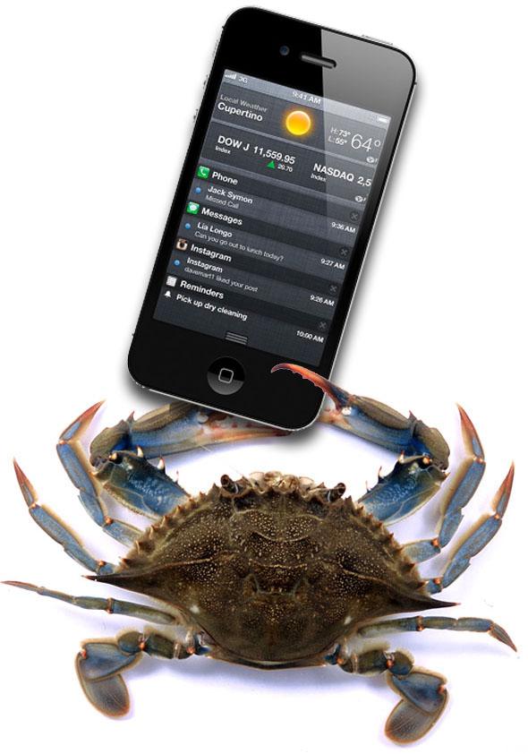 Siri em ação num iPhone 4S