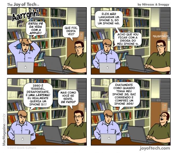 Joy of Tech - Sindrome de raiva pos-keynote da Apple