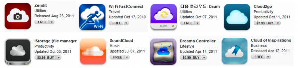 Nuvens na App Store