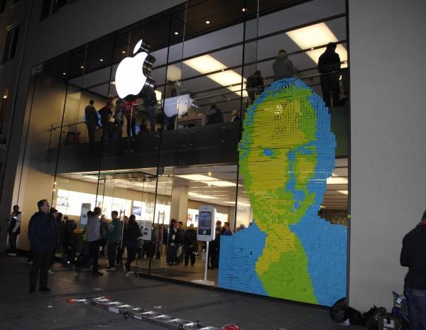 Steve Jobs em 4.001 Post-its
