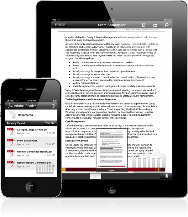 Adobe Reader - iPad e iPhone