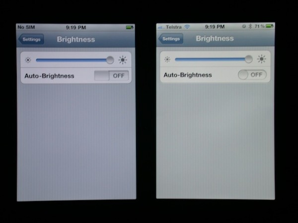 Comparativo entre tela do iPhone 4 e 4S