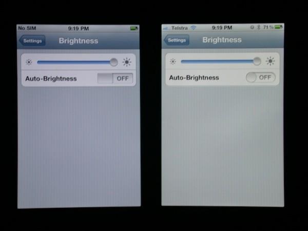 Comparativo entre tela do iPhone 4 e 4S