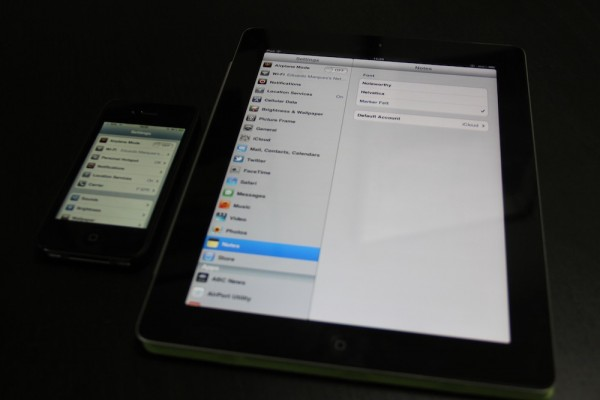 Comparativo entre tela do iPhone 4 e iPad 2