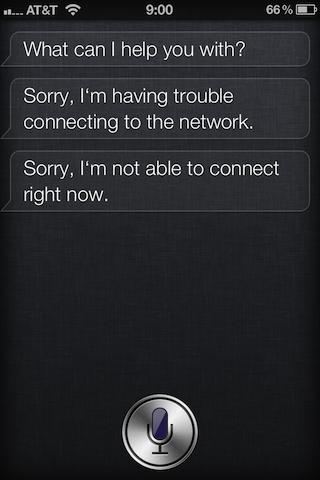 Erros no Siri