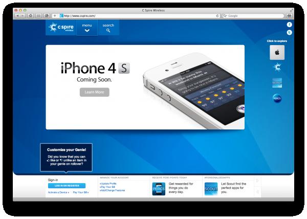 iPhone 4S na C Spire Wireless