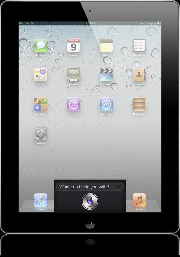 Montagem do Siri num iPad