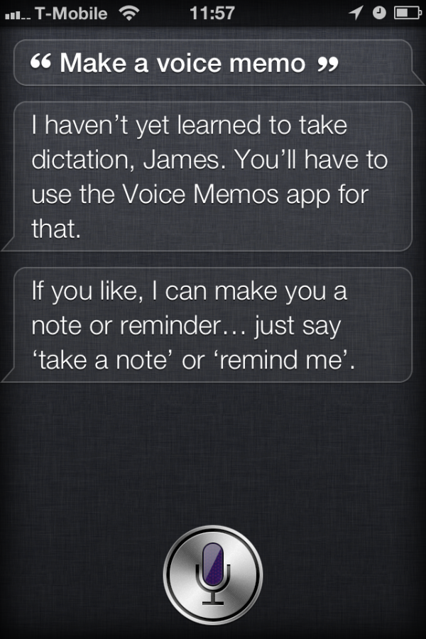 Resposta da Siri