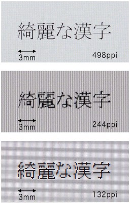 Tela de 498ppi da Toshiba