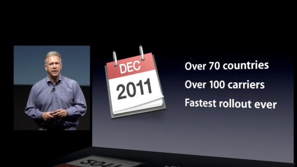 Slide da apresentação do iPhone 4S